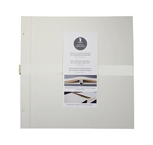 Rössler 12297148300 - Nachfüllpack für Memories Alben, 310 x 310 mm, Offwhite, 10 Blatt