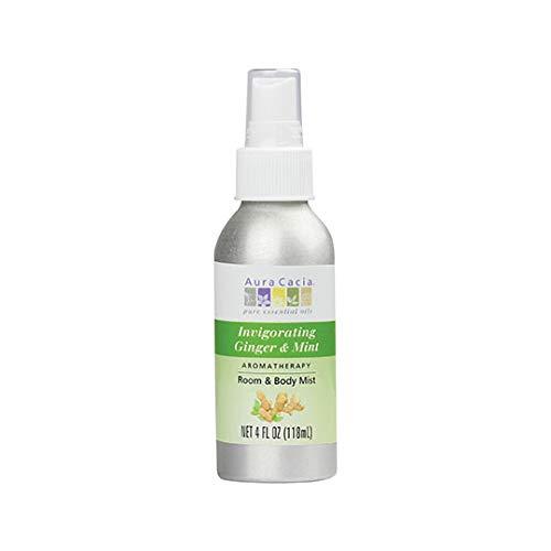 Room Body Mist, Invigorating Ginger Mint, 4 fl oz (118 ml) - Aura Cacia