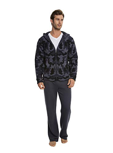 Barefoot Dreams CozyChic Men's Camo Zip-Up Hoodie, Camouflage Menswear, Fashion Jacket -  BDMCC1033-004-14