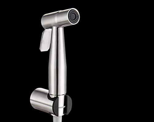 Pulverizador - Bidé Conjunto Completo de WC - Inodoro bidé a presión de acero inoxidable-Pistola + base