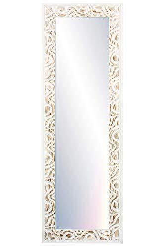 Chely Intermarket, Espejo de Pared Cuerpo Entero 35x140cm (51,50x157cm) Blanco-D31/Mod-147, Ideal para peluquerías, salón, Comedor y oficinas. Fabricado en España. Material Madera.(147-35x140-10,35)