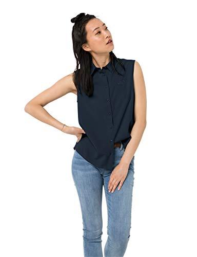 Jack Wolfskin Damen Sonora Sleeveless Shirt W Schnelltrocknende Ärmellose Bluse, Midnight Blue, L