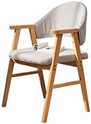 WALNUT Solid Wood Chair Home Dining Chair Office Computer Chair Leisure Back Desk Chair Minimalist Living Room Chair (Color : A)