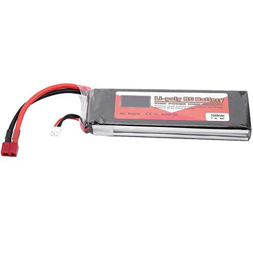 Dilwe Bateria LiPo RC, ZOP Power 2S 7.4V 2200mAh 5000mAh 3500mAh 5500mAh 4500mAh Bateria LiPo Recargable con T-Plug para RC Coche RC Avion o Barco(5500mAh 60C)