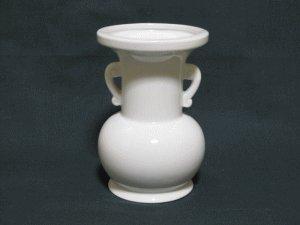 仏花瓶 白 4寸 (高さ11.8cm) 仏具 仏壇用品 仏壇 供養 お供え お盆 お彼岸