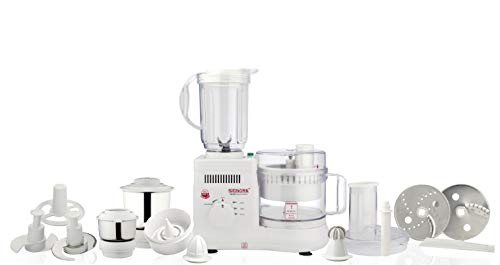 Signoraware Supreme Maxie Plus 10001 700-Watt Food Processor with 3 Jars (White)