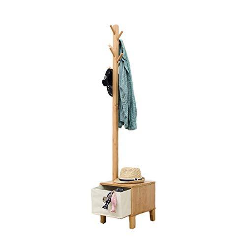 LIPENLI Estante de la capa sólida de madera de noche Suelo estante de la suspensión sala de estar creativa Hall de Entrada Ropa que cuelga rack