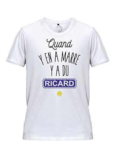 Hommes Top Tee Shirt Humour Apéro Quand Y en A Marre Y A du Ricard Parodie (M)