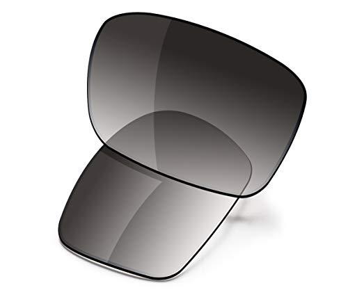 Lentes de repuesto para gafas de sol Oakley Holbrook Mix de Saucer, (High Defense - Grey Gradient Tint Polarized), Talla única