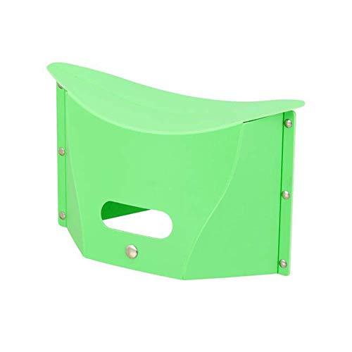 Guajave Tragbar Multifunktional Unterwegs Klappstuhl Außen Zelten Kunststoff Aufbewahrung Stuhl - Grün