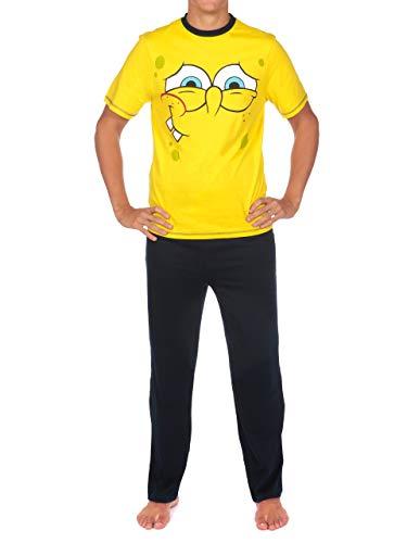 Spongebob Schwammkopf Herren Spongebob Squarepants Schlafanzuge Gelb XX-Large