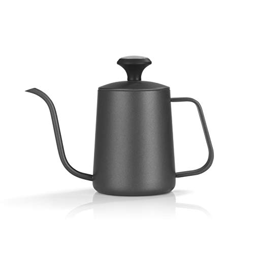 BEEM Pour Over Wasserkessel mit Thermometer - 0,5 l | Classic Selection | Edelstahl | Schwanenhals