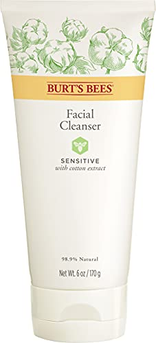 Burt's Bees 99% Natural Sensitive Facial Cleanser with Cotton Extract, 170g