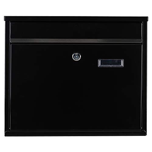 Boîte aux lettres - verrouillable/résistant aux intempéries - 2 clés - noir - 30 x 36 x 10 cm