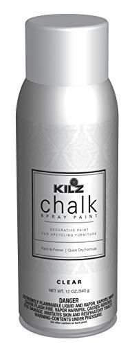 KILZ L540046 Chalk Spray Paint for Upcycling Furniture, 12 oz. Aerosol, Clear