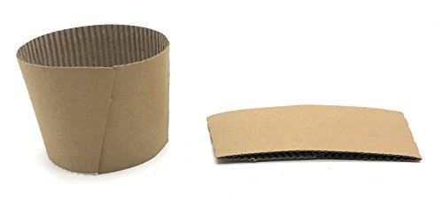 [5950 Count] [5950 Count] Disposable Corrugated Kraft Paper Cup Sleeves - Natural compostable Protective Heat Insulation hot Coffee Tea Chocolate Drinks