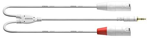 CORDIAL Y-Kabel Stereo/2 XLR-Mini-Klinkenbuchse männlich lang 6 m weiß