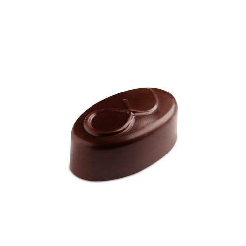 New OKSLO Polycarbonate chocolate mold, node oval 21 cavities Model (10616-16513-10143-12148)