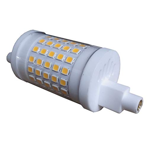 R7S LED 10W 78mm Regulable. Color Blanco Cálido (3000K). Lámpara de reflector. 230V CA, 900 lumenes. 360 grados. A++