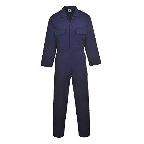 Portwest S999NARXXL Euro Work Polycotton Coverall, Regular, Size: 2X-Large, Navy
