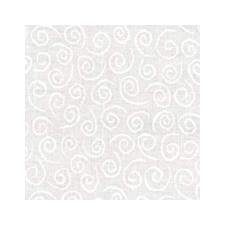 This is a tone on tone white print. Pathways 33134 11 yardage Muslin Mates by Moda