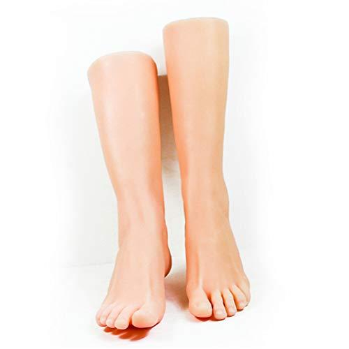 Yeah-hhi Realistische Mannequin Fuße Built-In-Knochen Ungiftigen Geschmackloses Weiches TPE-Material Fake-Fuß-Modell Für Fuß-Fetisch-Fotografie-Kunst-Skizze,1 Pair
