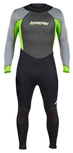 Hyperflex Women's and Men's 3mm Full Body Wetsuit – SURFING, Water Sports, Scuba Diving, Snorkeling - Comfort, Flexible and Anatomical Fit - and Adjustable Collar, Green, L