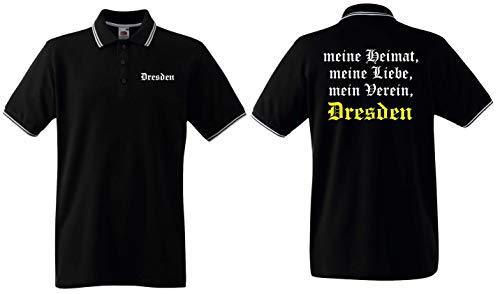 world-of-shirt / Dresden Herren Polo-Retro Meine Heimat, Mein Verein