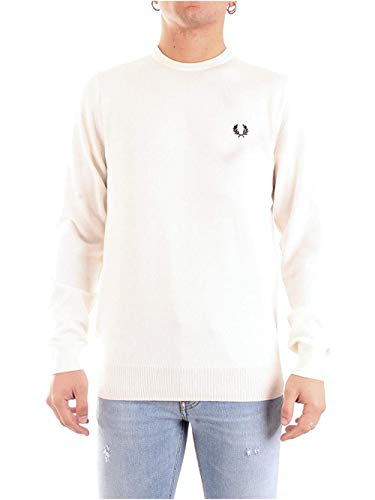 Fred Perry Winter-Pullover Classic Crew Neck 450 Karamell Gr. Small, beige