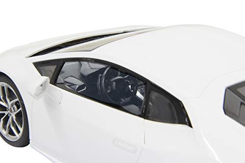 JAMARA 404560 - Lamborghini Huracán 1:14 27MHz - offiziell lizenziert, ca 1 Std. Fahrzeit bei 11 Km/h, LED, perfekt nachgebildete Details, detaillierter Innenraum,hochwertige Verarbeitung