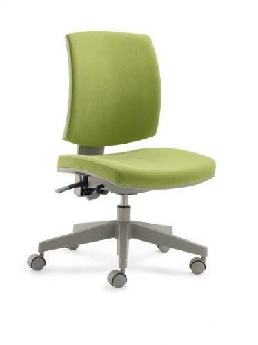 Mayer Sitzmöbel Kinder- und Jugenddrehstuhl, Kunststoff, Sitz Stoff schwarz + Rücken Netz grün, One Size