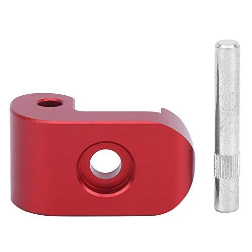 Demeras Universelle Klappverriegelungsschnalle mit Sicherheitsnadel, Nicht verformender Elektroroller-Klapphaken für M365/PRO(rot)