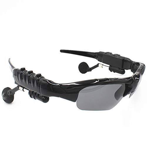 Wireless Sunglasses Earphone Sports Headphone Smart Polarized Audio Headset Mp3 Outdoor Riding 18 Hours Music time Smart Glasses Electronics with Bluetooth Connectivity(Black)