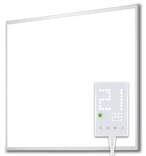 Heidenfeld Infrarotheizung HF-HP100/110 Weiß - 10 Jahre Garantie - inkl. Thermostat - Deutsche Qualitätsmarke - TÜV GS - 300 - 1200 Watt - 3 - 28 m² (HF-HP100 400 Watt)