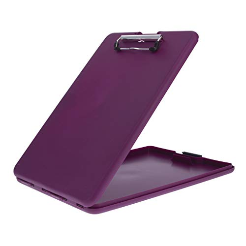 Saunders Plum SlimMate Plastic Storage Clipboard with Low Profile Clip - Portable Mobile Organizer for Home, Office, and Business Use (70206)