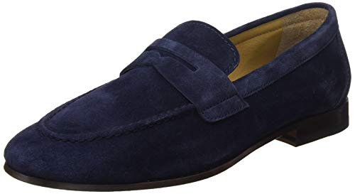 Lottusse L6974, Mocasines (Loafer) para Hombre, Azul (Camoscio Marino Camoscio Marino), 41 EU