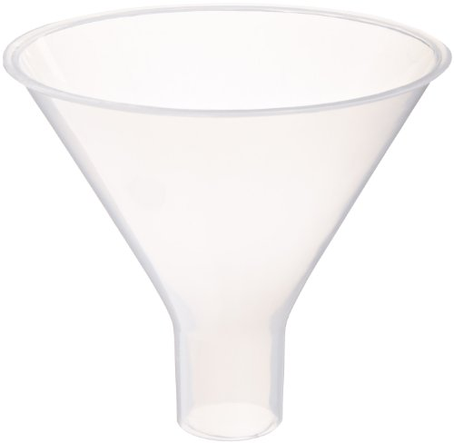 United Scientific FPP100 Polyethylene Powder Funnel, 150mL Capacity, Pack of Six