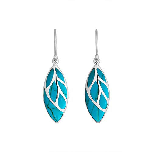 Sterling Silver Earring With Turquoise AE-6253-TQ