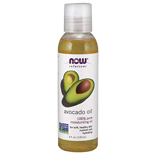 NOW Solutions, Avocado Oil, 100% Pure Moisturizing Oil, Nutrient Rich and Hydrating, 4 FL Oz...