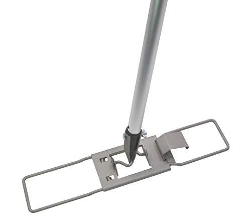 Bodenexpress Bodenwischer Halter 42 cm aus Metall Hochglanz mit Fixierschraube und Stiel, geeignet HaRa Vileda u.a.