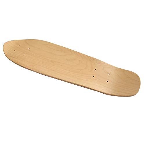 EYLIFE Skateboard Deck Blank, Skateboards Cruiser Holz Deck, 7 Schicht Maple Wood, Low Concave, Natur, 2 Größen,27in