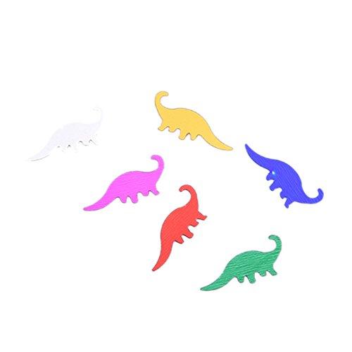 Andifany Confeti Dino Confeti de Mesa de Fiesta de Cumpleanos de Dinosaurios Decorar