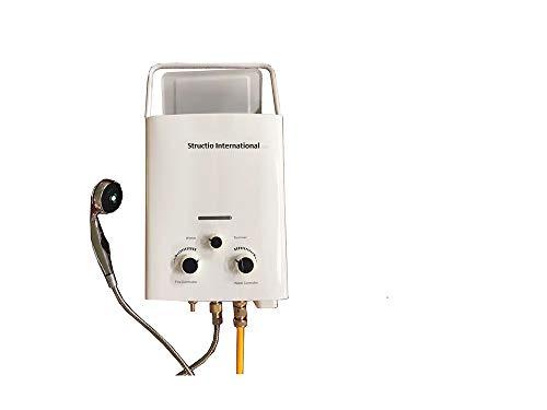 Calentador de agua, caldera de gas, portatil para ducha de camping, 6litros