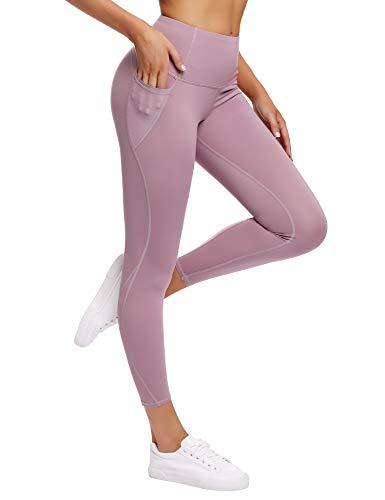 Irevial Leggings Mallas Deporte Mujer Push up,Alta Cintura Elásticos Pantalones con Bolsillos y Control de Barriga, pantalón chándal para Jogger,Yoga,Running,Fitness