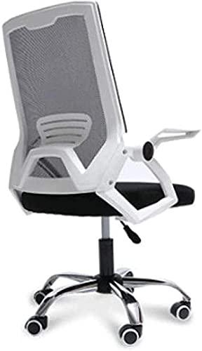 Silla de oficina ergonómica, moderna y minimalista para ordenador, silla de estudio familiar, color blanco, blanco, color: blanco (color: blanco)