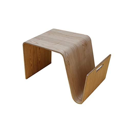 QINGZHUO Tavolino da caffè in Legno,tavolino da Divano in lamiera Curva,tavolino da caffè in Legno massello,tavolino Rimovibile Comodini da Camera da Letto Mobili Decorativi.