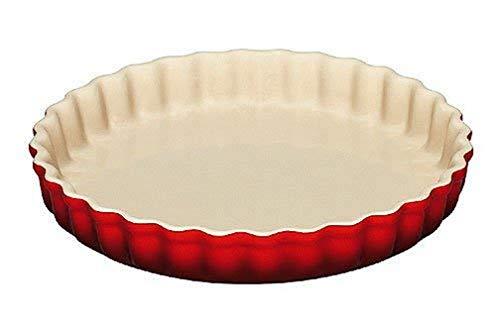 Le Creuset, Moule à Tarte, Ø 28 cm, Céramique, Cerise