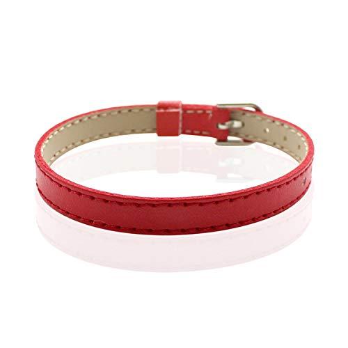 azalea store 10pcs 8mm PU-Leder-Armband Armbänder Klassische DIY Armband Armband Fit Dia-Buchstabe-Charme, 8