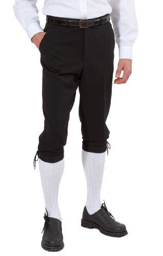 Fischerkleidung GmbH Herren-Kniebundhose aus Gewebe/Stoff, mit schwarzer Kordel Size 56