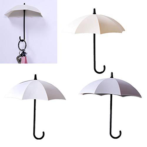 YARNOW 3 Piezas Autoadhesivas Coloridas Forma de Paraguas Ganchos de Puerta de...